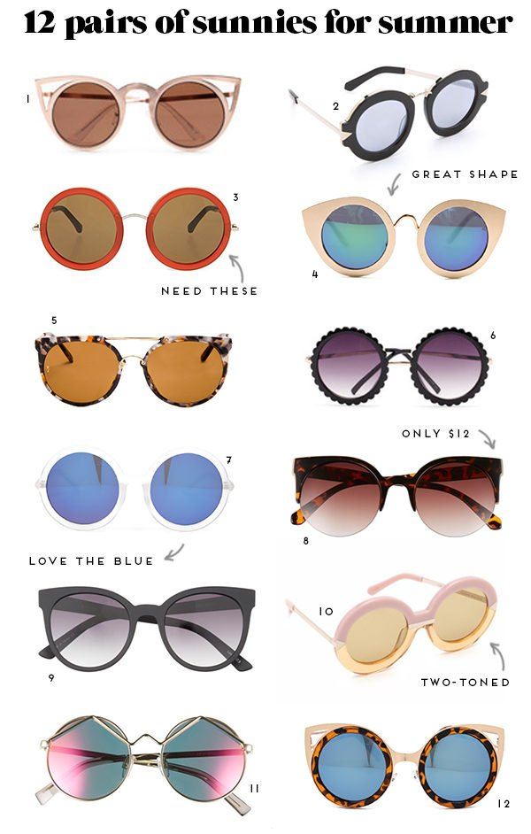 12 coolest pairs of sunglasses for summer