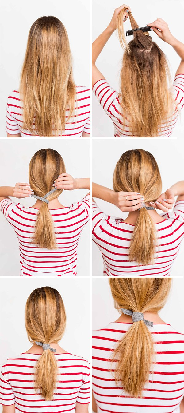Effortless ponytail hait tutorial in 3 minutes or less