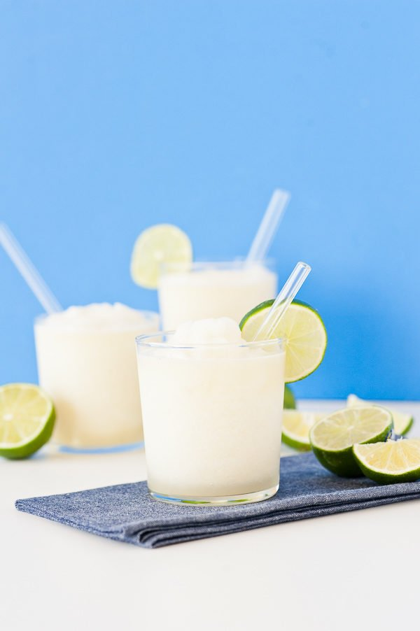 Gin and juice slushies recipe using homemade gin