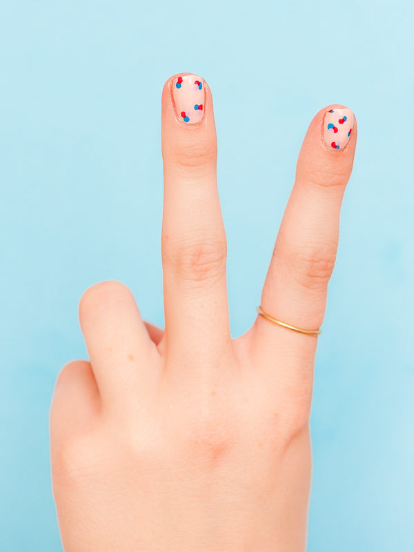 Polka Dot Nail Design Tutorial