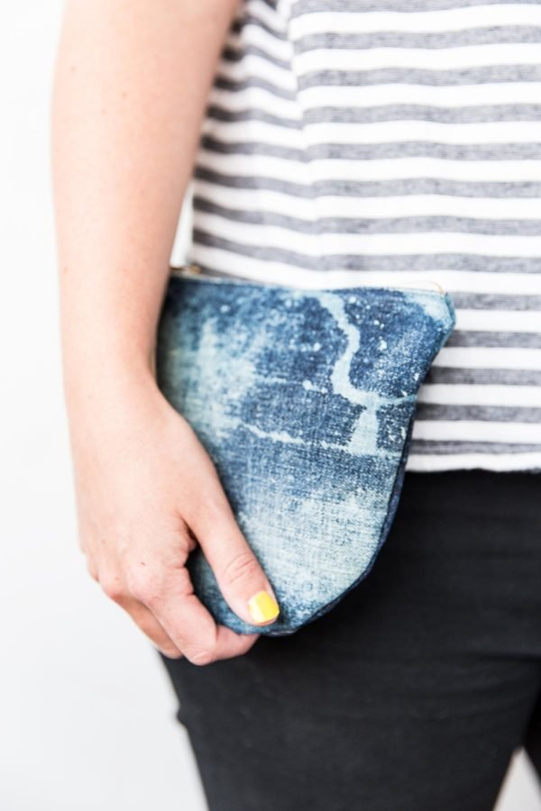 Learn to sew a DIY denim clutch from old jeans, in about an hour with this easy to follow tutorial.