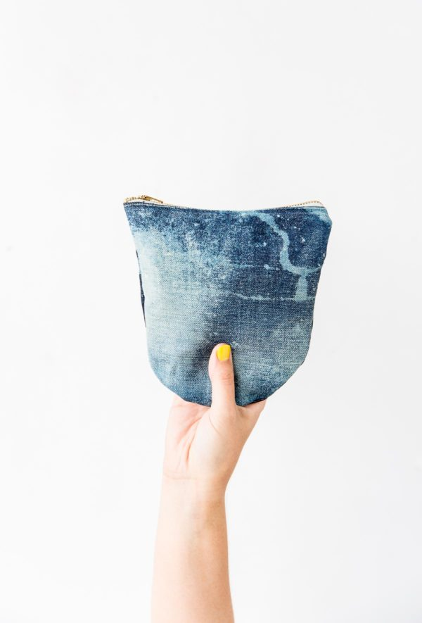 Sewn DIY Denim Clutch