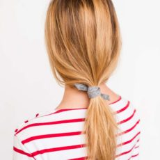 Pony Up: How to Create an Effortless Ponytail (in 3 Minutes) With a Piece of Felt