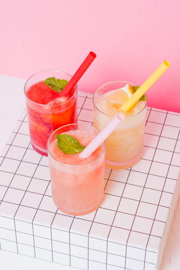 Summer sorbet soda floats