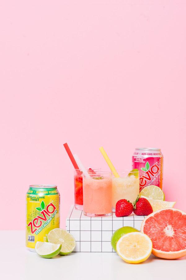 Sorbet soda floats with Zevia