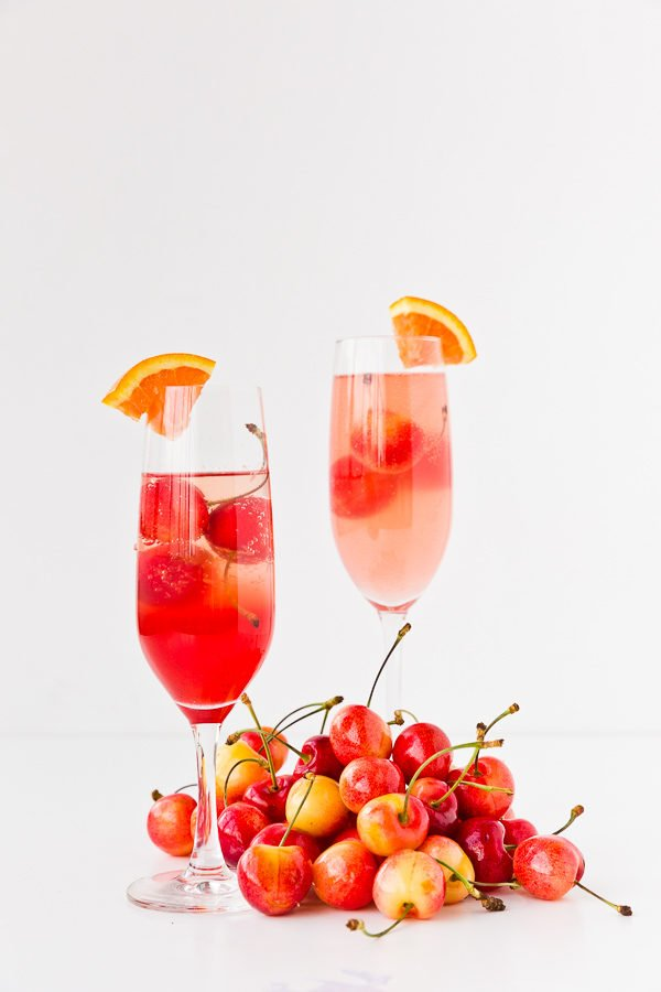 Cara cara and cherry cocktail for summer