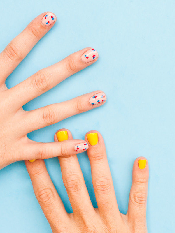 DIY polka dot nail tutorial