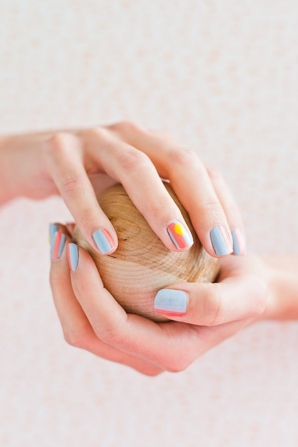 A summer inspired nail art tutorial