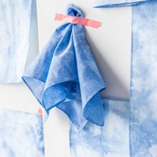 DIY Three Way: A Shibori Textile Project for Your Walls, Your Kitchen, and Father's Day?!