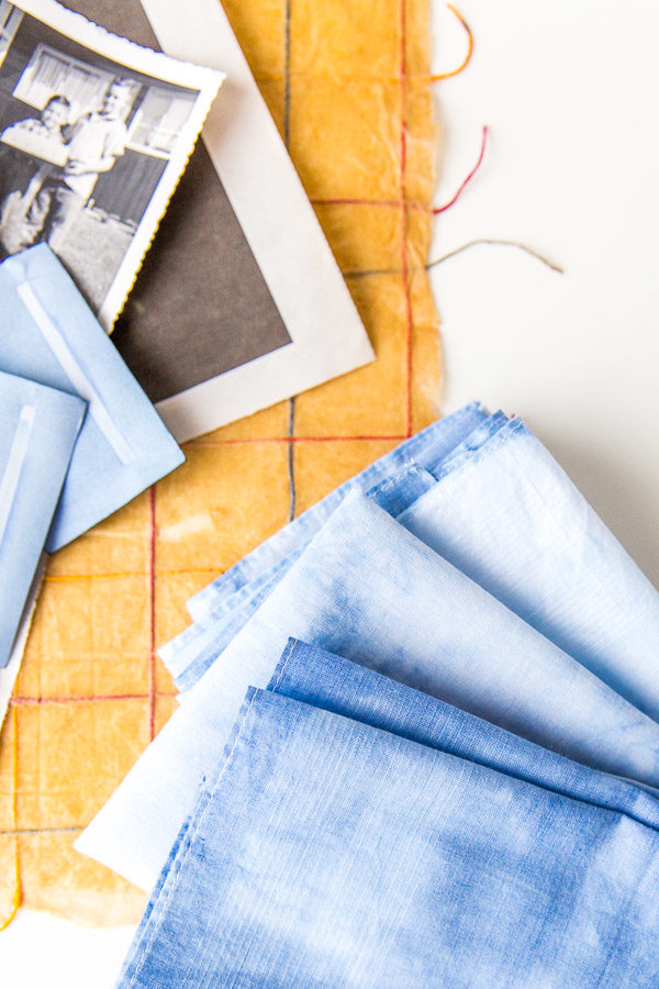 DIY shibori hankies for Father's Day