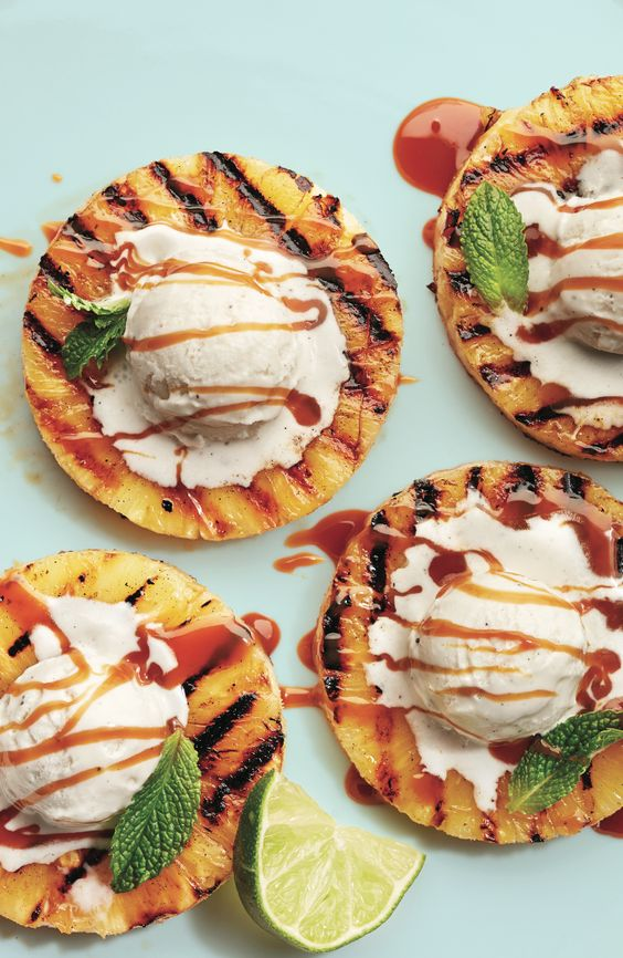grilled pineapple dessert