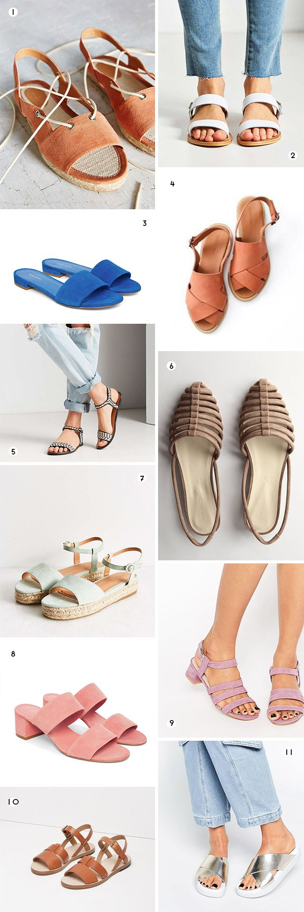 11 awesome sandals for summer!