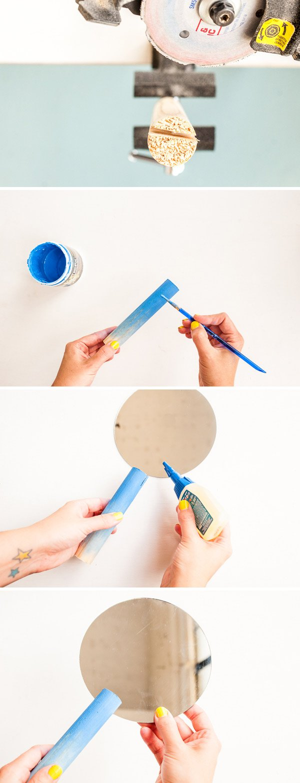 How to make a modern DIY hand mirror in 30 minutes or less.