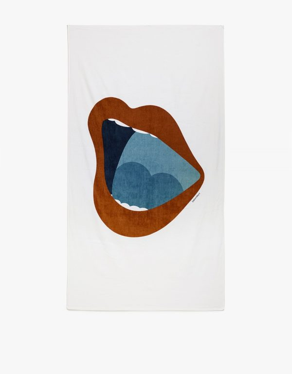 Saturdays Surf NYC open mouth beach towel