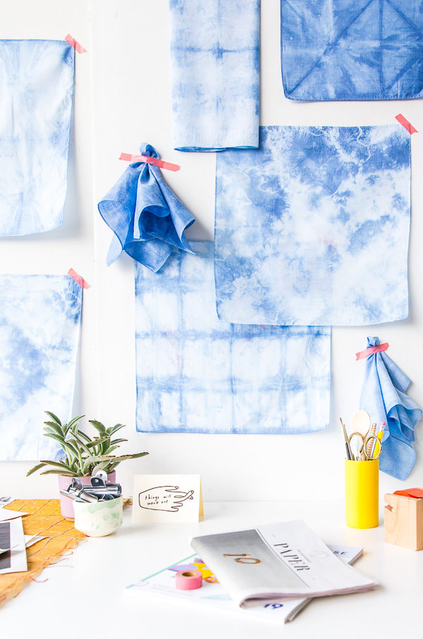 Shibori wall art DIY idea