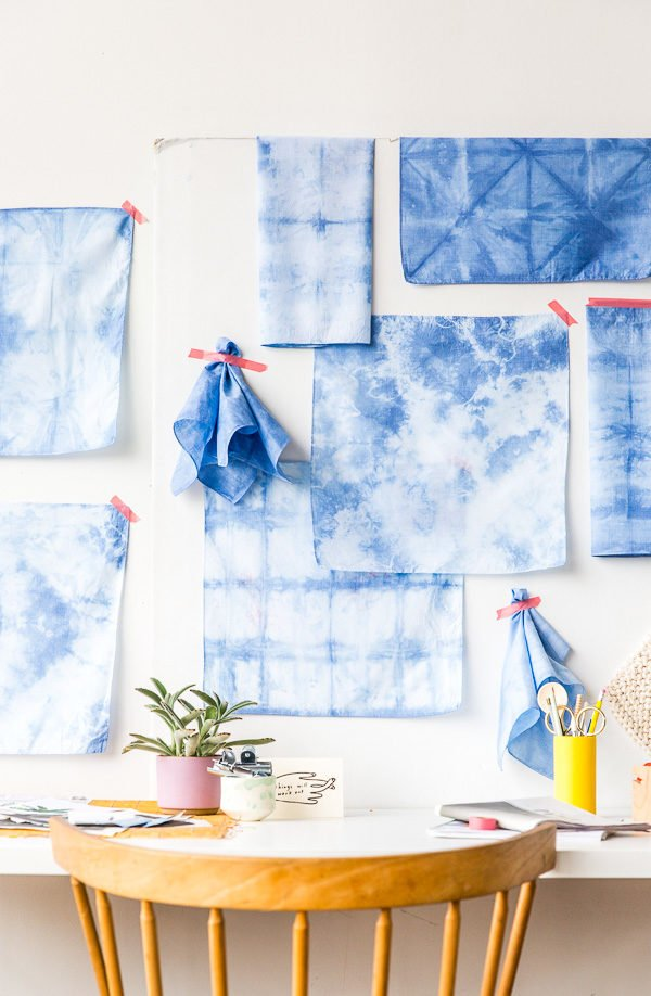 Tutorial for shibori dyed textiles