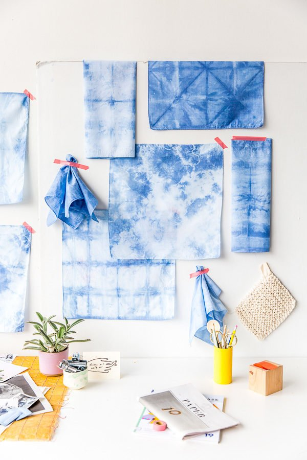 DIY shibori textiles as wall art