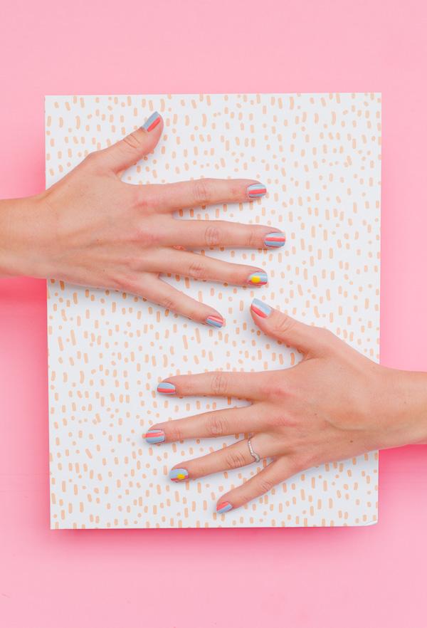 summer-inspired-nail-art-tutorial-pink-1
