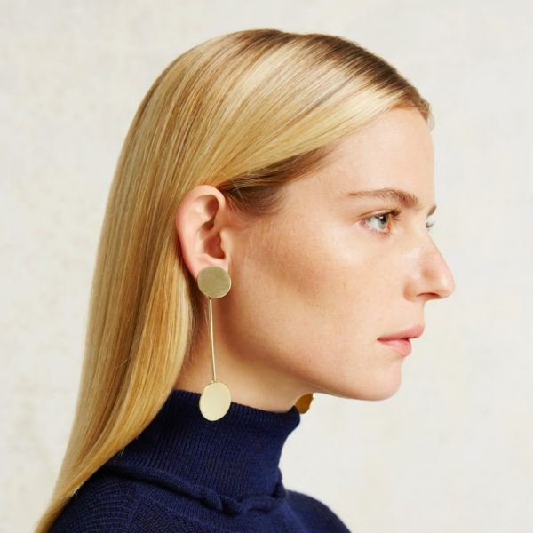 drop circle earrings from Trade Mark
