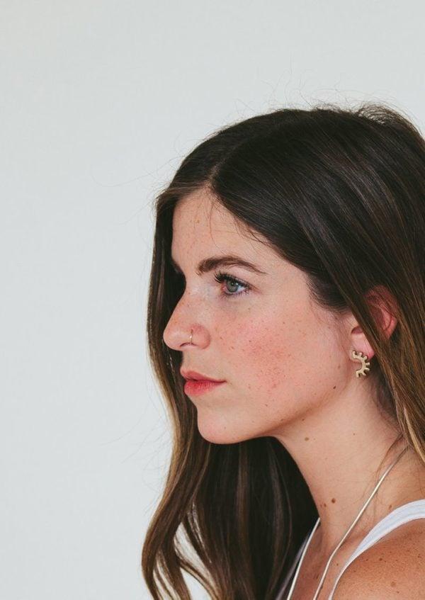 ojo brass earrings from Tior Tiro