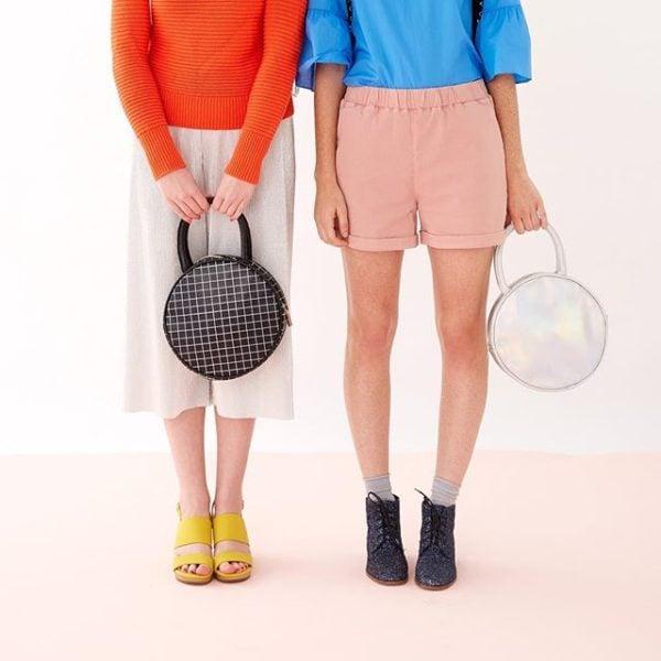 Holographic circle bag from Bando