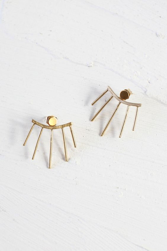 beacon ear jacket earrings from Wild Poppy