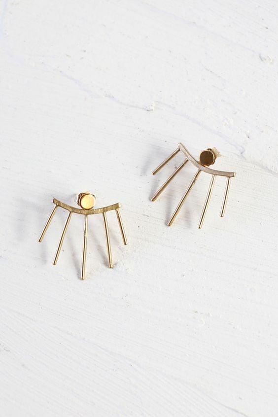 beacon ear jacket earrings from Wild Poppy