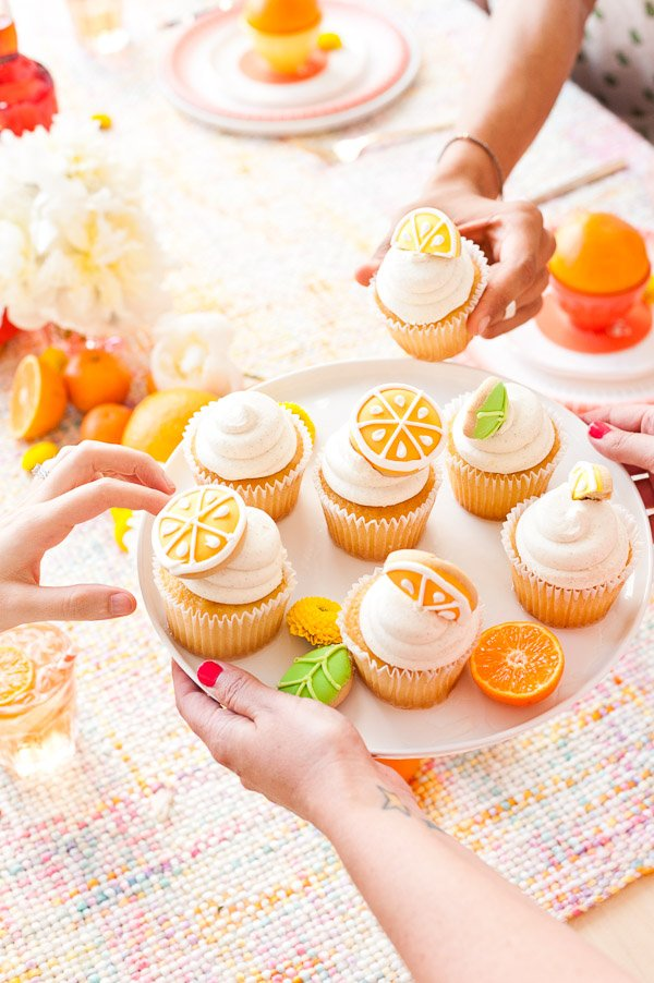 Citrus cupcakes and cocktails