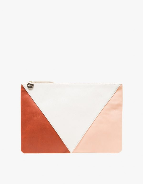 Clare V patchwork clutch
