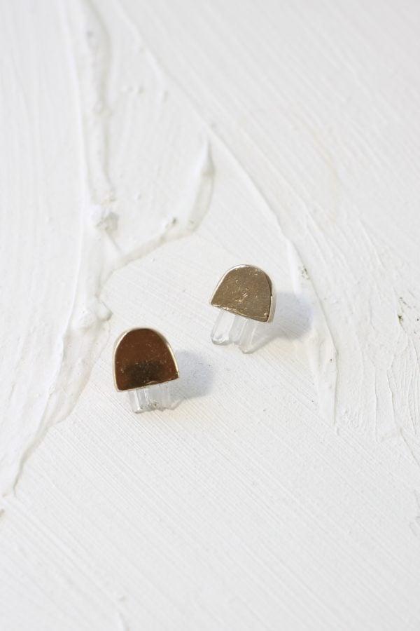 crystal cluster arc earrings from Wild Poppy