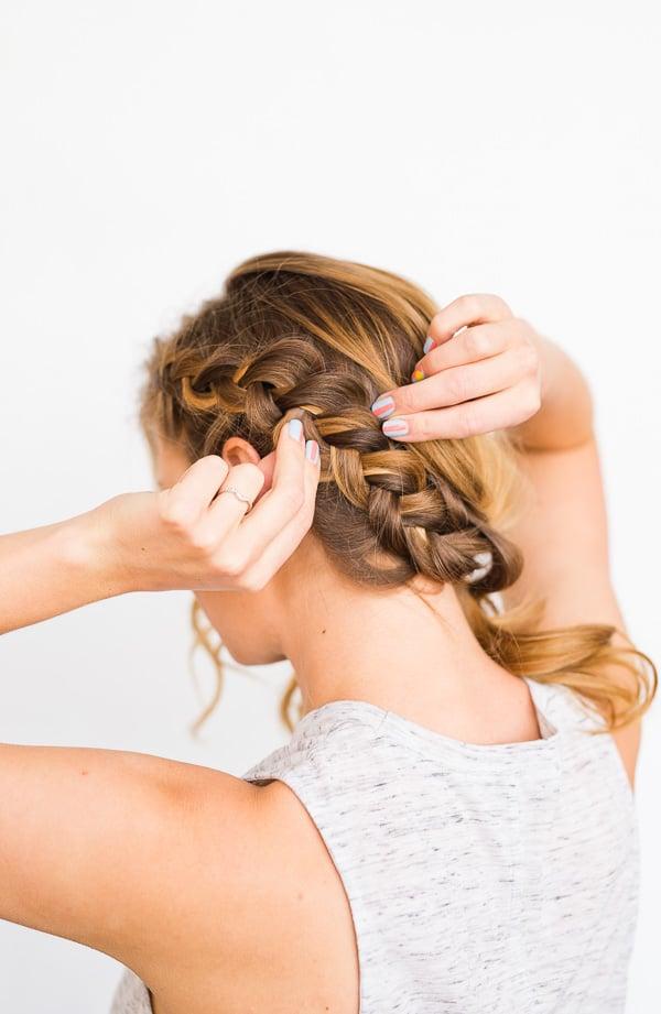 DIY Side Swept Braid and Wave Hair Tutorial