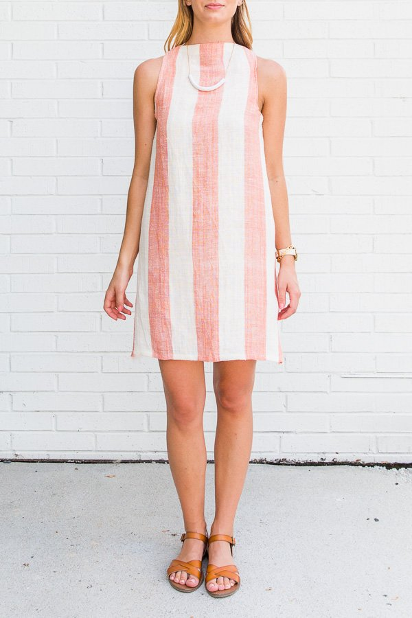 How to Sew a Summer Shift Dress from a Tablecloth