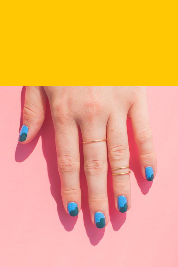Asymmetric Scallop Nail Art Tutorial