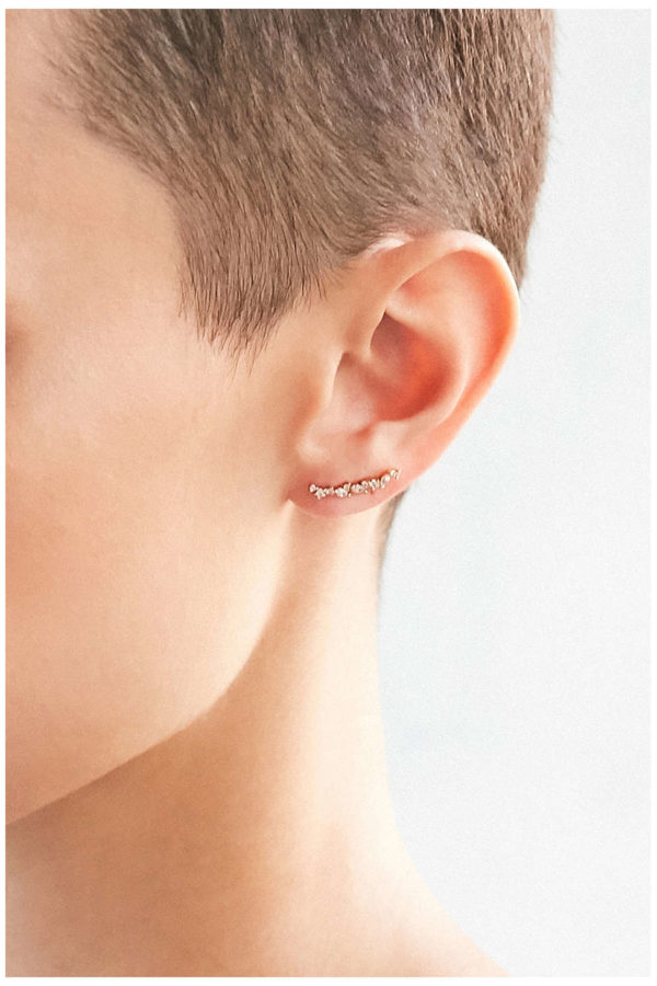 tiny rhinestone ear climber earrings from Urban Outfitters
