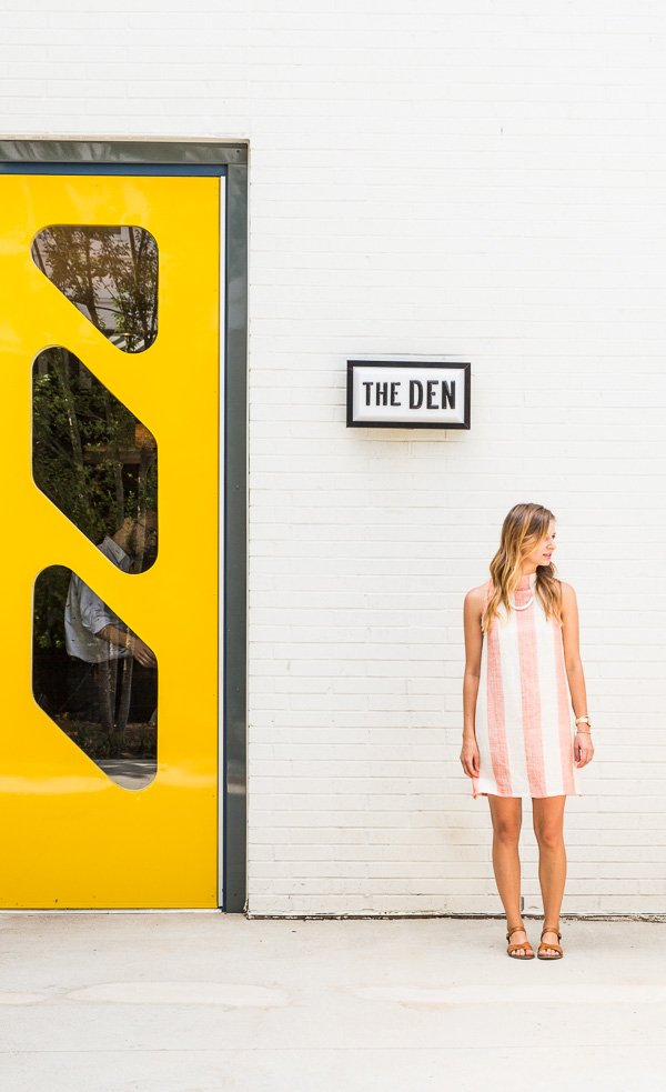 How to Sew a DIY Summer Shift Dress from a Tablecloth