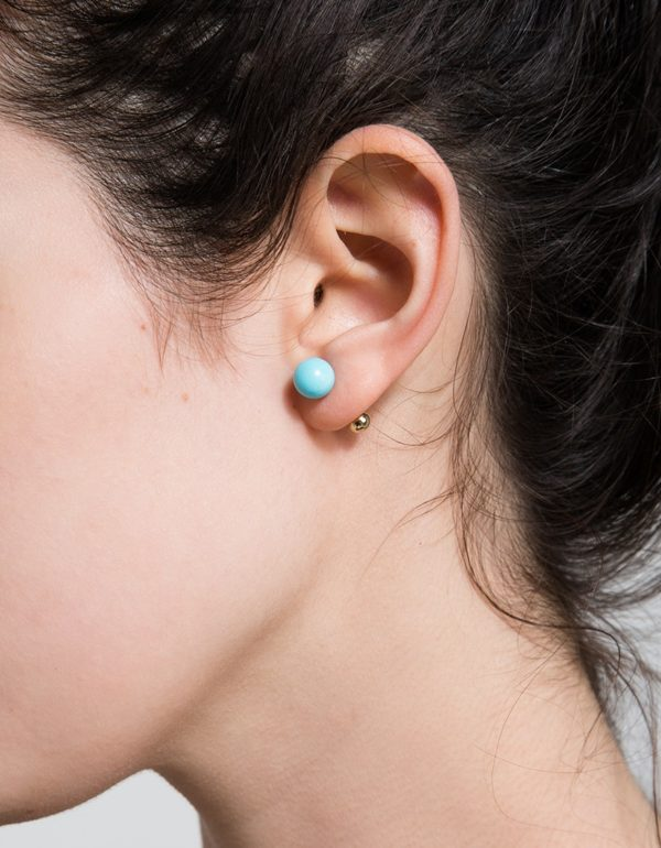 large turquoise studs from Need Supply