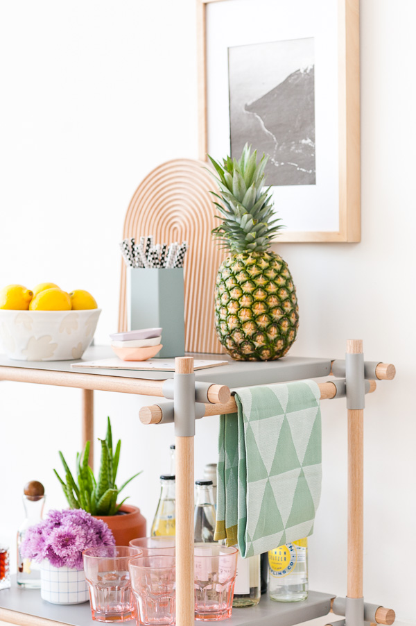 Tips for Styling your Own Bar Cart at Home