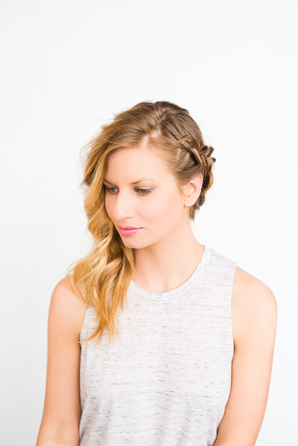 Swept Away: DIY Side Swept Braid and Wave Hair