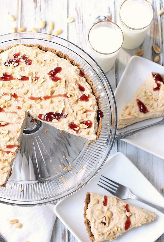 boozy peanut butter and jelly tart recipe