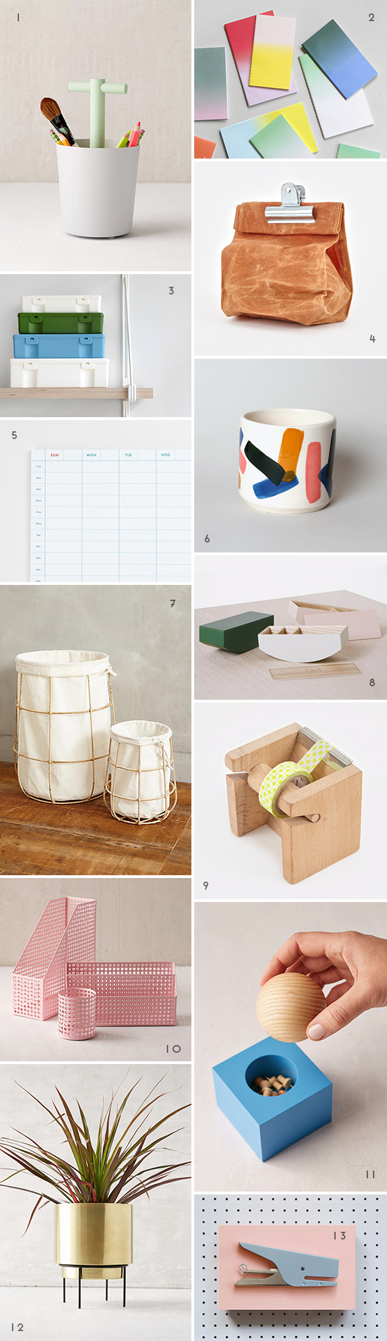 Cool Desk Items Inspired by Back to School