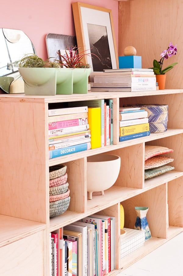 Modern DIY Seating and Storage Made of