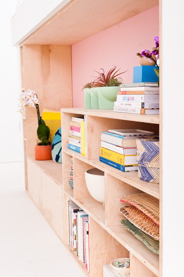 Modern DIY Seating and Storage with Plywood
