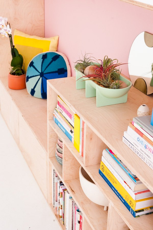 Modern DIY Seating and Storage with Plywood. Click through for the step by step tutorial.