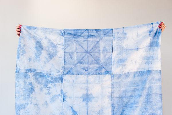 How to Make a DIY Shibori Patchwork Picnic Blanket / Beach Towel