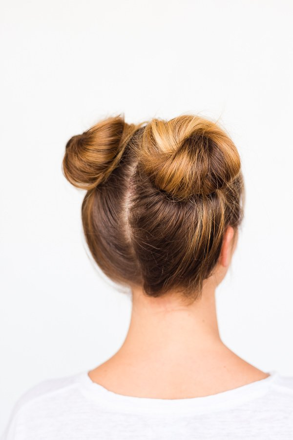 A Double Bun Hair Tutorial in 5 Minutes