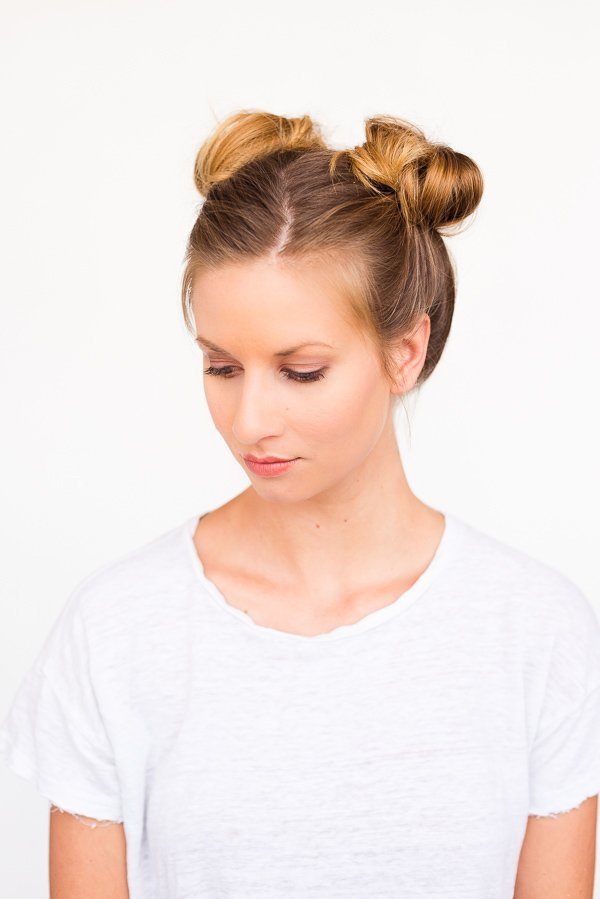 Two Buns Are Better Than One: Double Bun Hair Tutorial - 5 Minute Hairstyles