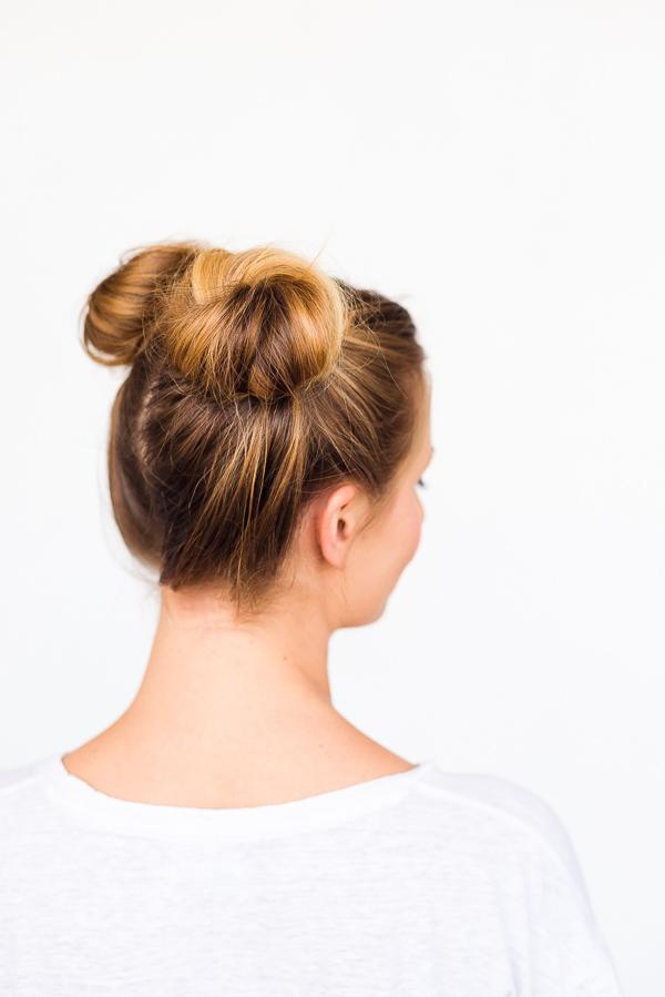 Enjoyable Double Bun Side View Hair Tutorial 2 Paper And Stitch Short Hairstyles Gunalazisus