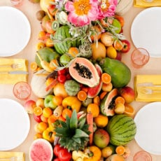 Let There Be Fruit, Veggies, and Peonies: A Fresh Summer Party with More DIY Ideas