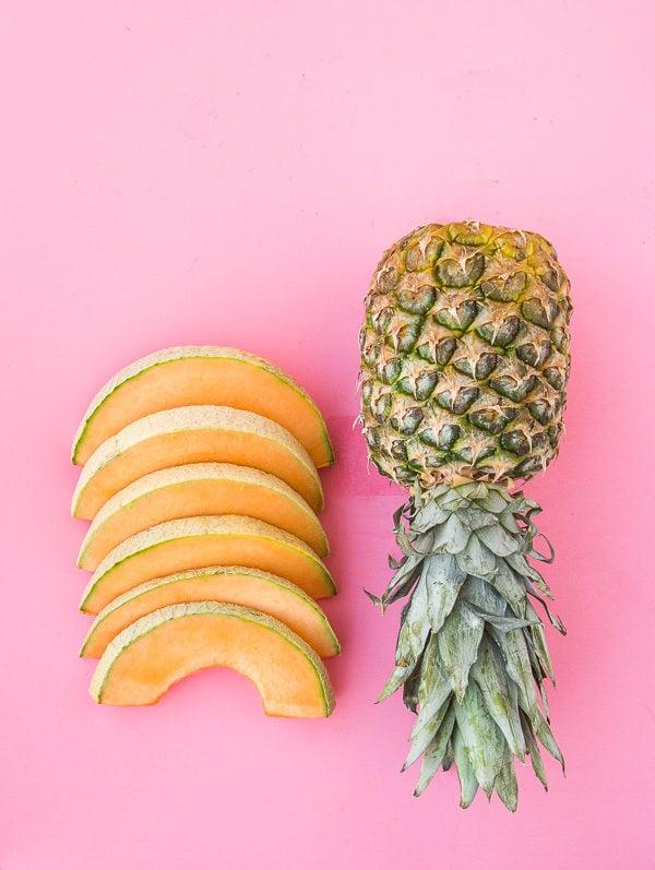 Cantaloupe + pineapple