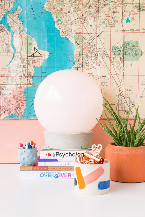 Ikea Hack: How to Create a Concrete Globe Table Lamp For Under $30